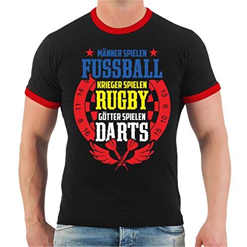 Männer und Herren T-Shirt Darten Götter Spielen Darts Größe S - 8XL