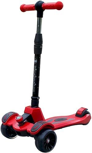 LJHBC Kickscooter Einfach zu Falten Verstellbare H  Geeignet für 3-15 Jahre Jugend Kind Mit blinkendem PU-Rad Tretroller Lagergewicht 120kg Nicht elektrisch