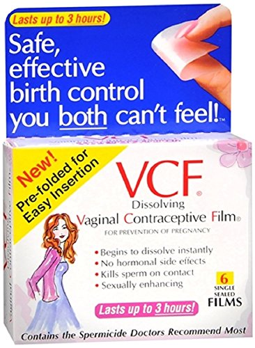 VCF Dissolving Vaginal Contraceptive Film 6 Count Pack of 2