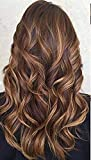 Pema Hair Extensions And Wigs Women's Highlight Clip in Wavy/Curly Extension (Golden)