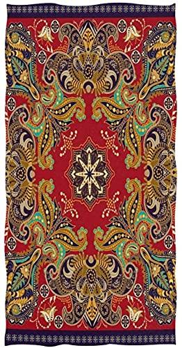 Toallas de mano suaves, bohemias indias Paisley florales altamente absorbentes para baño, mano, cara, gimnasio