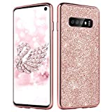 DUEDUE Samsung Galaxy S10 Case, S10 Phone Cover, Glitter