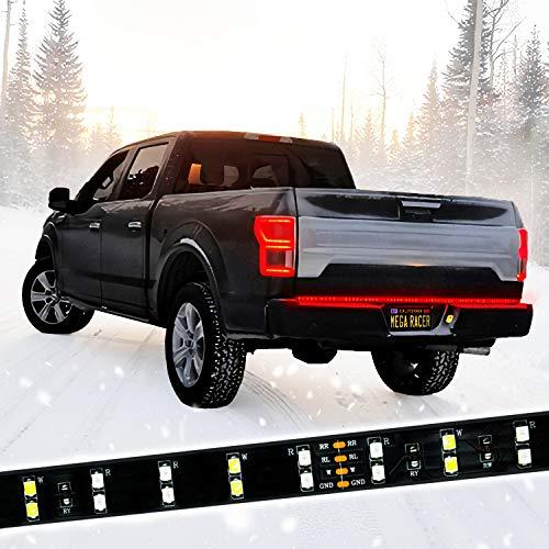 Mega Racer 60' Double Row LED Tailgate Light Bar, 5 Functions - LED Brake Light...