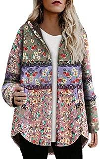 iHAZA Vintage Women Steampunk Victorian Lapel Zipper Parka Jacket Ruffle Hem Outwear Trench Coat