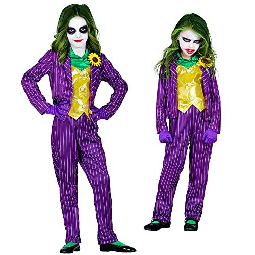 WIDMANN - Disfraz infantil de payaso Evil, chaqueta con blusa y chaleco, pantalones, guantes, psicótico, asesino, disfraz, fiesta temática, carnaval, Halloween.