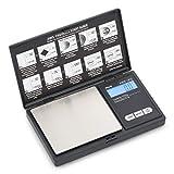 AWS Series Digital Pocket Weight Scale 1kg x 0.1g, (Black), AWS-1KG-BLK
