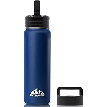 Hydrapeak 67oz Double Wall Stainless-Steel Vacuum Insulated Thermos Canteen Wide Mouth Flask BPA-Free Leak-Proof Growler with Handle Lid Water Bottle 2L