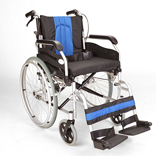 Lightweight folding self propel wheelchair with handbrakes and quick release rear wheels ECSP01-18
