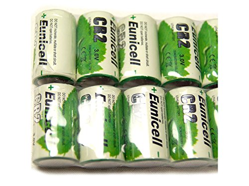 Lot de 10 Piles CR2 Lithium (CR15270) 3V 800mAh Eunicell