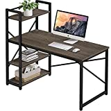 Computer Desk with Storage Shelves - Small Home Office Desks Study Table for Bedroom Small...