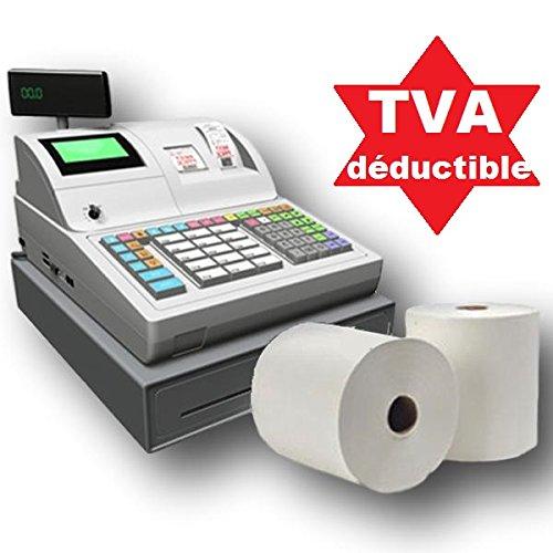 10 bobines papier thermique 80 x 80 x 12 pour caisse enregistreuse, ticket de caisse recharge standard de rouleau de papier thermique rouleau pour caisse, imprimante thermique, balance UGR03th