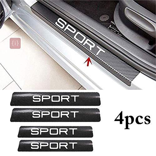 ISEE 360® 4PCS Car Sticker Universal Anti-Scratch Door Sill Sport Car Decal Car Sticker Decal (Sport)