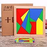 YXB Arquímedes Catorce Puzzle Estudiante Adulto del niño del Cerebro más Fuerte 14 Tangram Juguete de Madera P7/3