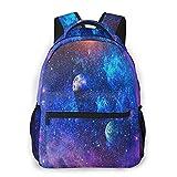 MEJX Mochila Paquete de Almacenamiento,Hermosas, estrellas y galaxias. Elementos de esta imagen proporcionados por la NASA,Casual Bolsa de Estudiantes de la Escuela Mochila Portátil de Viaje