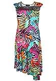 Doris Streich Damen Jerseykleid mit floralem Muster Besatz
