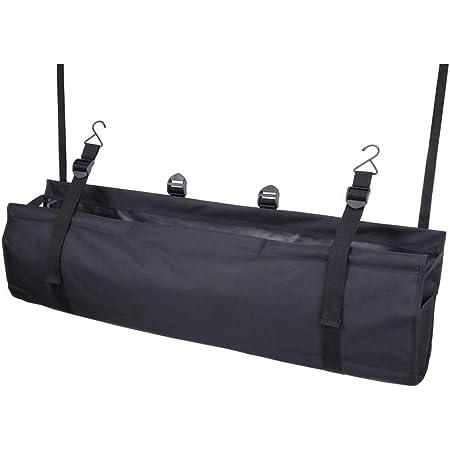 ナポレックス 車用 収納バッグ 純正感覚 ラゲッジルームバッグ ブラック 大容量 リアシート専用 ヘッドレストシャフトにベルト&フックで簡単取付 NAPOKEX JK-69