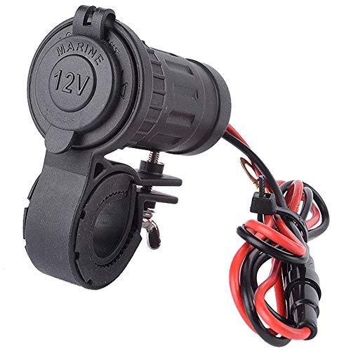 MMOBIEL Universal Wasserdicht Zigarettenanzünder 12V-24V240W Halterung für Motorrad Lenker inkl 60cm Anschluss Kabel