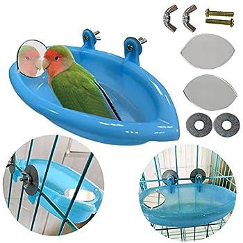 ♛Taille: 7,4 pouces * 3,9 pouces * 1,4 pouces (L * W * H), plus de détails s'il vous plaît vérifier Picture-2, merci beaucoup ~ ♛ Polyvalent Il peut être utilisé avec une baignoire pour oiseaux et une cuvette pour oiseaux, très pratique. La baignoire...