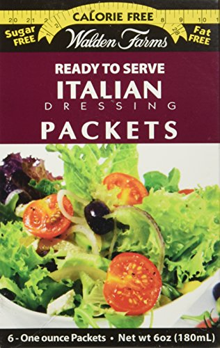Walden Farms Italian Salad Dressing Packets - Six 1 oz. packets per box