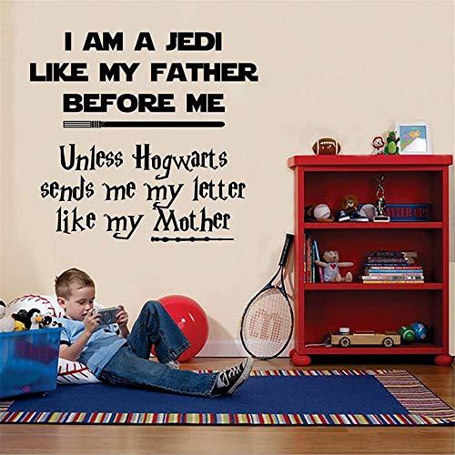 Sticker mural Star Wars VS Harry Potter Art Pour Enfants Room Quote Nursery Bedroom Decor Room Decor