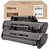 MYIK Compatible Toner Cartridge Replacement for Samsung 111S 111L MLT-D111S MLT-D111L to use with Xpress M2020W Xpress M2024W Xpress M2070W Xpress M2070FW (Black, 2-Pack)
