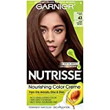 Garnier Nutrisse Nourishing Hair Color Creme, 43 Dark Golden Brown (Cocoa Bean) (Packaging May Vary),1 Count