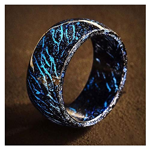 Coomir leuchtender Ring, im Dunkeln leuchtender Schmuck, Unisex, für Damen und Herren 11 schwarz