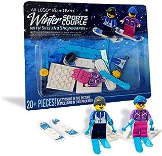 LEGO Male and Female Winter Sports Couple - Custom Snowboard and Ski LEGO Minifigures