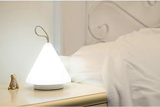 Night Lights Specialty Decorative Lighting Portable Night Light LED Cute Plastic Pyramid Lamp Kids Bedside Lights Warm Lig...
