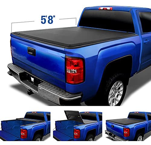 Tyger Auto T3 Soft Tri-Fold Truck Bed Tonneau Cover for 2007-2013...