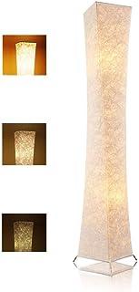 LEONC Design 65'' Creative LED Floor Lamp, Softlighting Minimalist Modern Contemporary with Fabric Shade & 2 Bulbs Floor L...