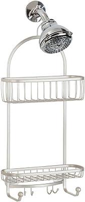 InterDesign York Shower Caddy - Bathroom Storage Shelves for Shampoo, Conditioner and Soap, Satin
