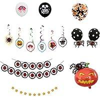 POPETPOP ハロウィーンの装飾クモ実用的なカボチャハロウィンバナーパーティー装飾風船セットフェスティバルハロウィン仮面舞踏会