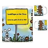 G&elfingen an der Donau - Einfach die geilste Stadt der Welt Kaffeebecher Tasse Kaffeetasse Becher mug Teetasse Büro Stadt-Tasse Städte-Kaffeetasse Lokalpatriotismus Spruch kw Neu-Ulm Haunsheim
