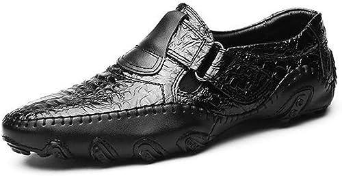 JESSIEKERVIN YY3 Chaussures pour pour Hommes, Chaussures de Sport en Cuir, Chaussures à Pois, Mocassins pour Hommes à Fond Mou  marques de créateurs bon marché