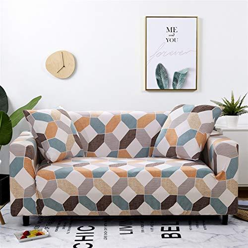 kengbi Funda de sofá elástica duradera y fácil de limpiar a cuadros para sofá de salón, funda de sofá, silla, decoración del hogar de 1/2/3/4 plazas