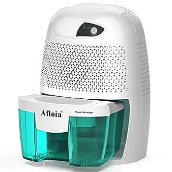 Afloia Electric Small Dehumidifier for Home 2200 Cubic Feet Portable dehumidifier with 17oz Capacity for Bathroom Baby Room Bedroom RV Basement Caravan Office Garage High Humidity Auto Shutt Off