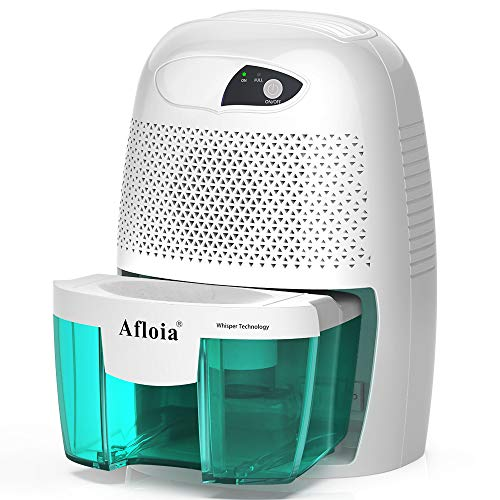 Afloia Electric Small Dehumidifier for Home, 2200 Cubic Feet Portable dehumidifier with 17oz Capacity for Bathroom Baby Room Bedroom RV Basement Caravan Office Garage, High Humidity, Auto Shutt Off