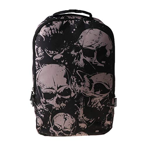 Ocobudbxw Skull School Backpack 22L Bag High Middle Bookbag for Men Women Boys Girls