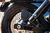 Kuryakyn 6553 Motorcycle Accent Accessory: Mesh Rear Caliper Cover for 2008-17 Harley-Davidson Dyna & Softail Motorcycles, Satin Black