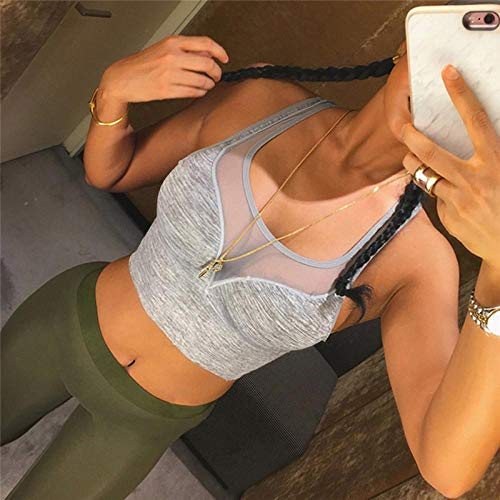 YIMENGSX 2017 Sexy Sujetador Deportivo Empuja hacia Arriba Las Mujeres Pulsera de Malla Gimnasio Top Acolchado Yoga Bras Entrenamiento Gimnasio Correr Yoga Deporte