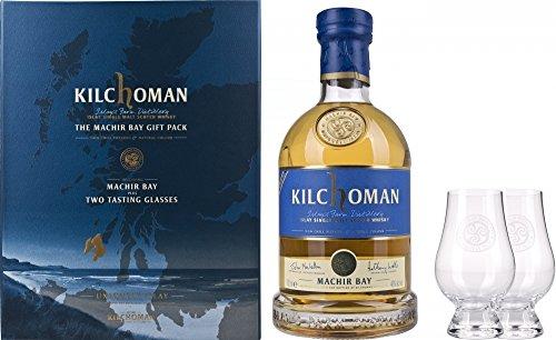 Kilchoman Machir Bay, con astuccio e 2 bicchieri da Whisky