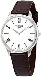 Tissot Men's Tradition 5.5 Brown Leather Strap Watch T0634091601800