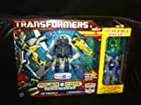 Transformers Power Core Combiners Series Exclusive Robot Action Figure Set - Autobot SKYBURST with 4 Aerialbots (Recon Plane Drone, Combat Helicopter Drone, Chopper Drone and Fighter Jet Drone) Plus Bonus SEARCHLIGHT with Mini-Con BACKWIND