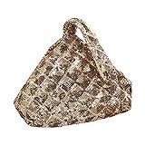 RK-HYTQWR Bolso de Mano Triangular para Mujer Bolsos de Noche Bolsos de Fiesta Nupcial para Fiesta de graduación, Bolso de Lentejuelas Estilo Mina