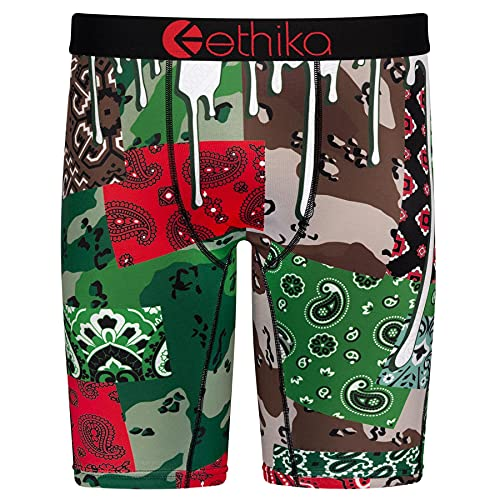Ethika Herren-Boxershorts, Paisleymuster, Camouflage-Muster - - Medium