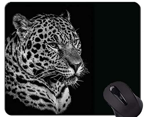 Yanteng Alfombrilla de ratón Antideslizante para Juegos de Goma, Alfombrillas de ratón con Forma de Gato y Leopardo para la Familia de Gatos