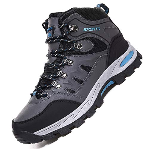 Rokiemen Zapatillas de Trekking para Hombre Botas de Montaña Zapatillas Senderismo Transpirable Antideslizante Al Aire Libre Zapatillas de Camping