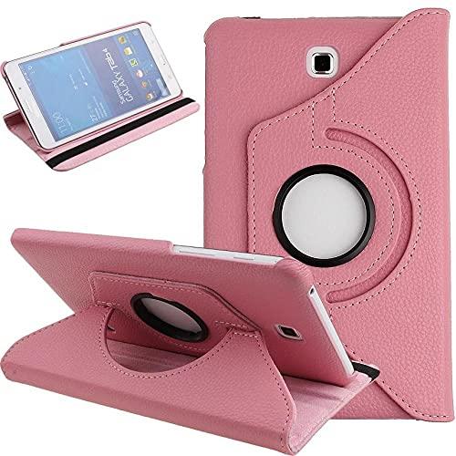 Estuche de PU con rotación de 7.0 Pulgadas, para Samsung Galaxy Tab 4 SM-T230 360 T231 T235, para Samsung Galaxy Tab 4 T230 T231, con Soporte de Cubierta 360-Rosa