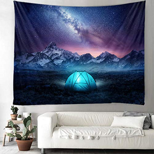 AdoDecor Tapestry Tent Under The Stars Tapestry Wall Hanging Decoration Living Room Bedroom Dormitory Home Decoration Tapestry 150X100CM